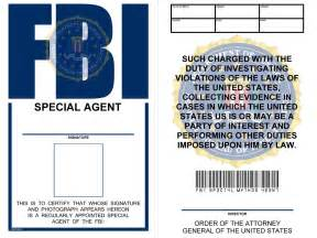 Special Agent Id Card Template Fbi Badge Viewing Gallery