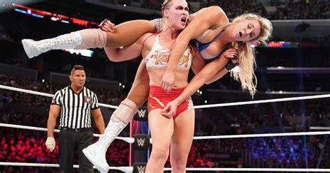 charlotte flair vs rousey cageside community star ratings ronda rousey vs