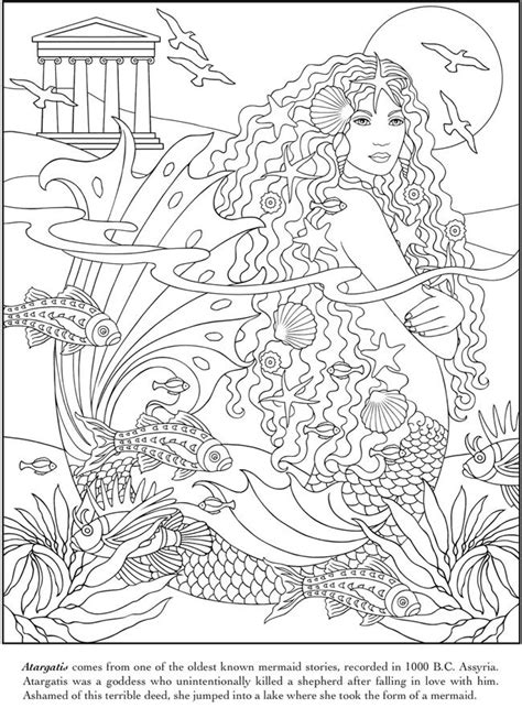 mermaids grayscale coloring book coloring books for adults books pin by msluckieduckie on coloring pages