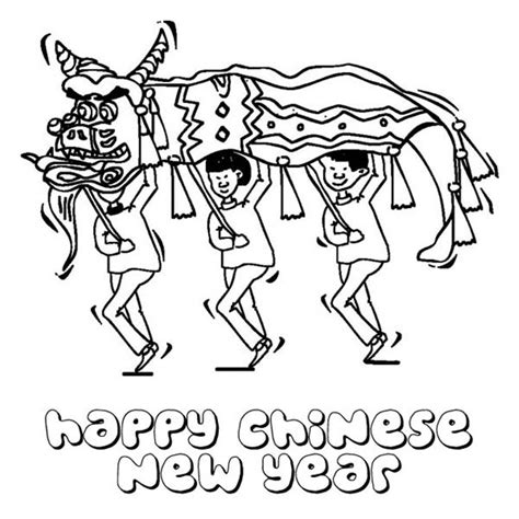 dragon dance coloring page chinese dragon dance coloring page coloring page