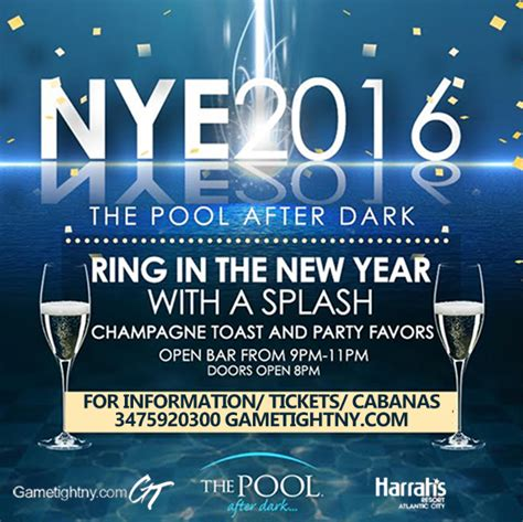 ac new years new years 2016 harrahs pool tickets 12 31 15
