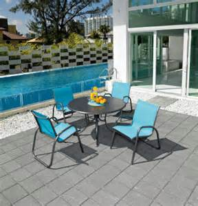 Commercial outdoor sling dining chairs wholesale patio furniture