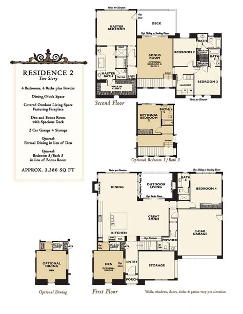 santa fe floor plans new homes at enclave rancho santa fe floor plans north