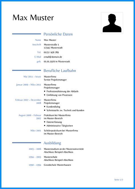 Lebenslauf Muster Englisch Word 8 tabellarischer lebenslauf vorlage word business template