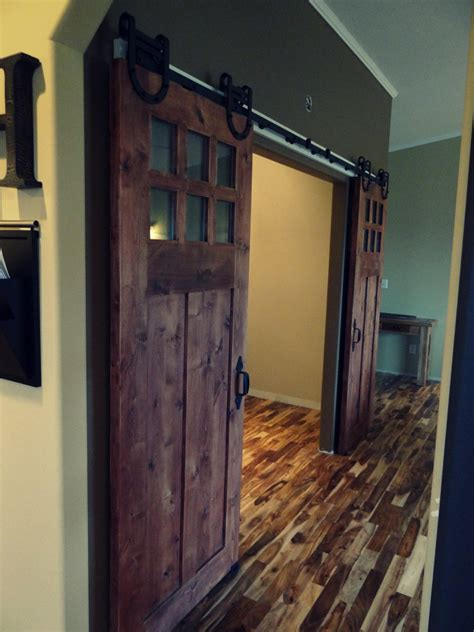 Sophisticated Double Barn Doors Interior With Glass Top Barn Door For Interior
