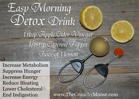 Detox Cleanse Cayenne Pepper Recipe by Easy Morning Lemon Detox With Lemons Apple Cider Vinegar