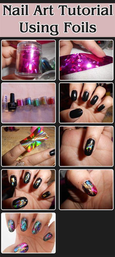 Nail Art Kit Tutorial | nail art tutorial using foils art supplies unique and