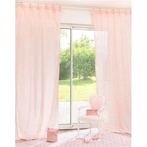 tende con laccetti tenda rosa a pois in cotone con laccetti 105 x 250 cm