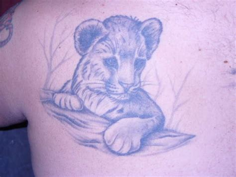 lion and cub tattoo cub tattoos