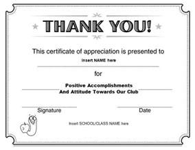 thank you certificate template free 30 free certificate of appreciation templates and letters