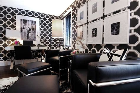 black white home decor 30 black and white home offices that leave you spellbound