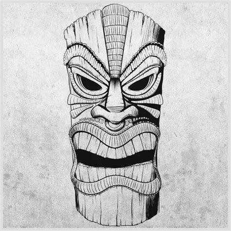 tiki drawings illustration tiki mask longboard tikis