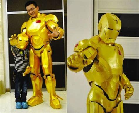 chinese dad son build amazing diy iron man suit