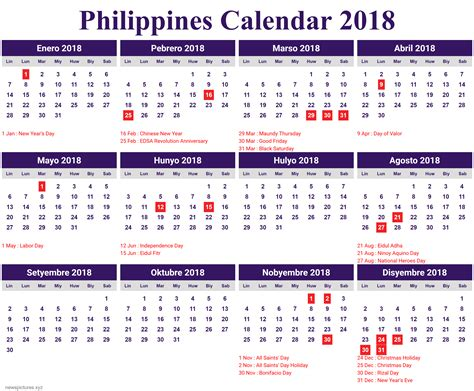 january 2018 calendar for philippines calendar 2018
