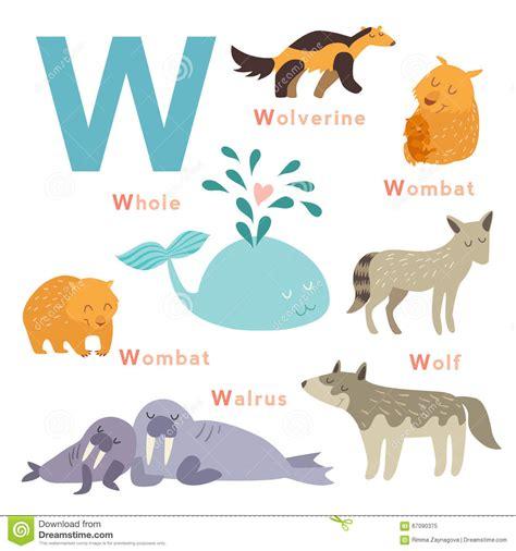 imagenes de animales por la letra w animales de la letra de w fijados alfabeto ingl 233 s