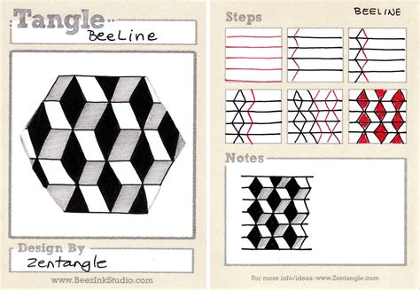 Zentangle Pattern Beeline | tangles for people who doodle zentangle designs