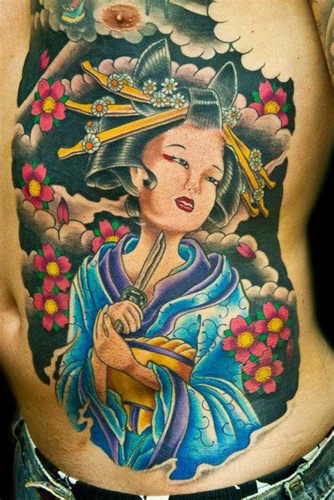 geisha tattoo full color full body geisha tattoo designs tattoos