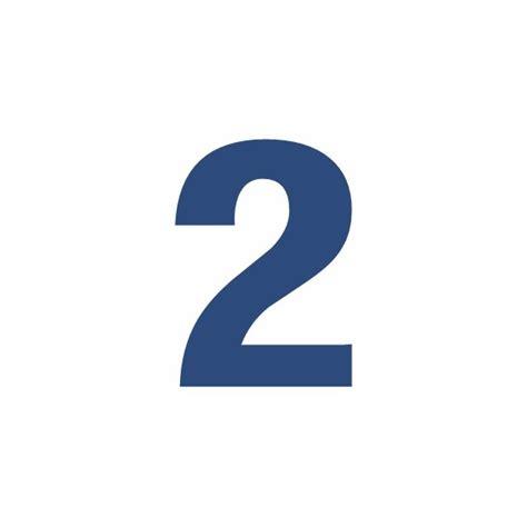 sticker chiffre 2 pour coller sur votre voiture ou moto