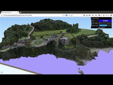 modelos digitales de elevacion  qgis qgis  threejs