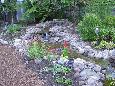 how to create a pond and stream for an outdoor waterfall creating our pond our habitat garden