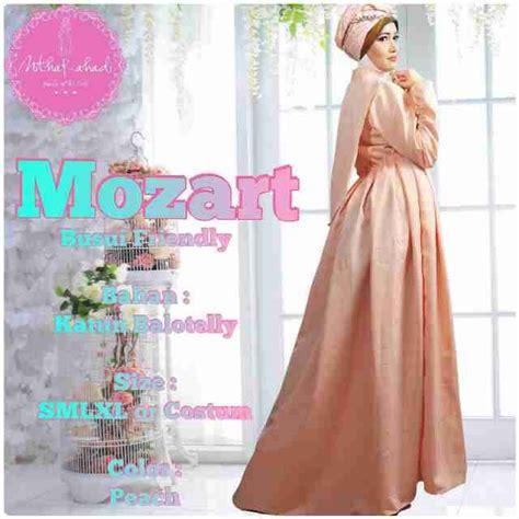 Flare Baju Pesta Muslimah mozart dress outlet nurhasanah outlet baju pesta