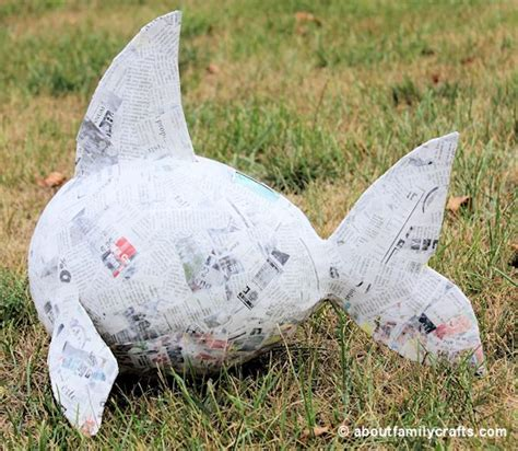 Make Paper Mache Pinata - make a paper mache pinata fish about family crafts