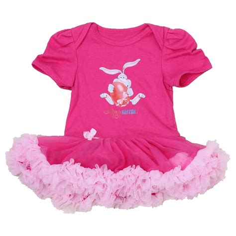Romper Tutu Pink Limited pink happy easter hare egg baby costumes lace petti rompers tutu dress bebe jumpsuit easter