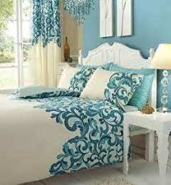 teal bedding sets matching curtains teal cream double bed set with matching curtains 66 x 72