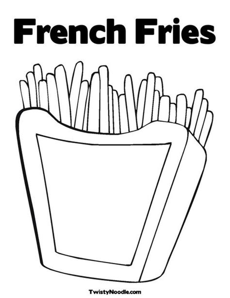 Fries Coloring Book Coloring Pages Fries Coloring Page