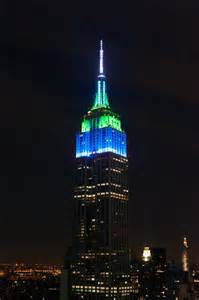 Empire state building shines for the seahawks for the second night in