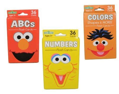 sesame educational flashcards colors shapes more with abby cadabby books set of 4 packs sesame educational flash cards abc s