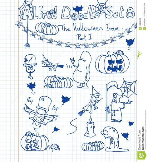 how to use doodle kit alfred doodle set 6 vector cartoondealer