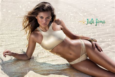 Shiny Gold Swimsuit Crop Top, Back Lacing   Soutien Sporty Gold Rush