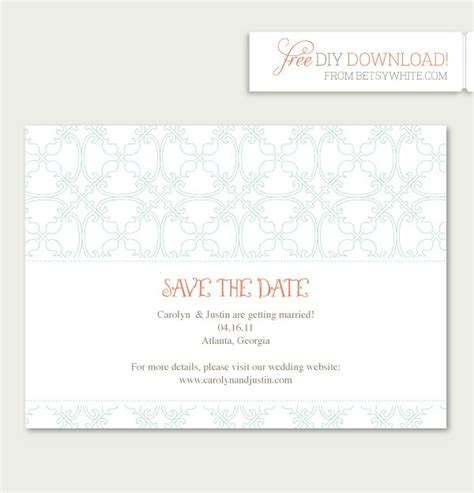 The Date Calendar Card Free Template by Save The Date Templates Cyberuse