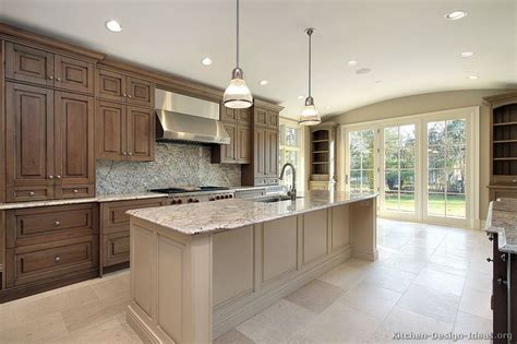 two tone kitchen cabinets brown and white ideas pictures of kitchens traditional medium wood cabinets