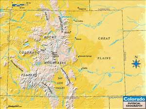 geographic map of colorado colorado physical geography map by maps from maps