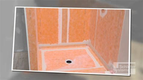 bathroom membrane system schluter 174 kerdi over solid backing for walls youtube