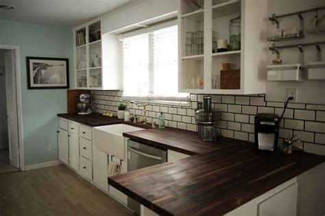 kitchen benchtop black stained wood google search home design furnishing ideas