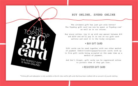 Use Topshop Gift Card Online - 1000 images about appointment loyalty card on pinterest loyalty cards gift cards