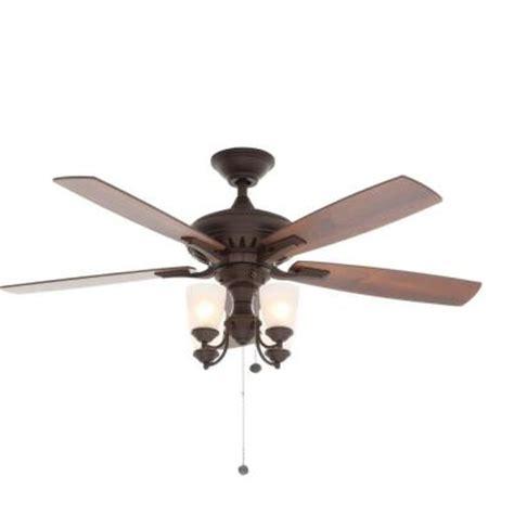 Hton Bay 4 Light Ceiling Fan Hton Bay Bristol 52 In Rubbed Bronze Ceiling Fan 14949 The Home Depot