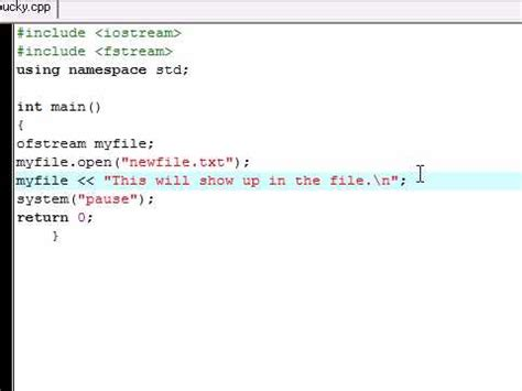 c tutorial 29 reading and writing to files fstream