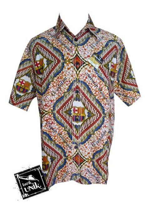 Baju Muslim Koko Bola Madrid baju batik kemeja smok motif batik bola real madrid