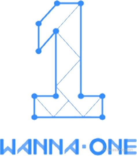 Sticker Wanna One quot wanna one logo blue version quot stickers by princesshojoon