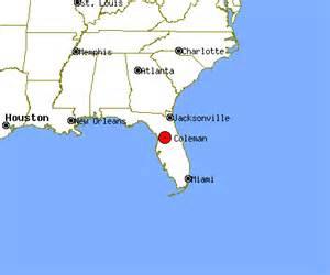 coleman florida map coleman profile coleman fl population crime map