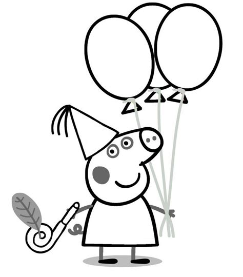 peppa pig coloring pages a4 peppa pig birthday coloring pages 99coloring com for
