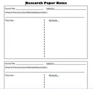 research template middle school research paper student notes template information