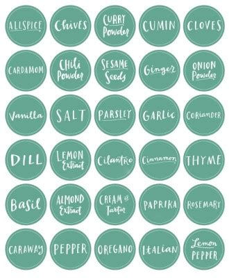 free printable kitchen spice labels free printables pinterest 10 free printable labels for organizing living well mom