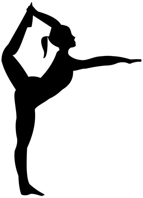 OnlineLabels Clip Art - Stretching Ballerina Silhouette