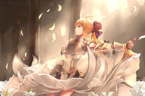 anime fate stay night saber lily sword fate series