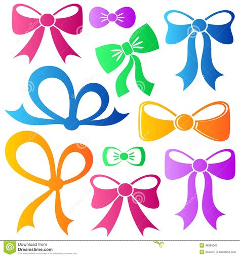 colorful bows colorful bows stock vector illustration of congratulation